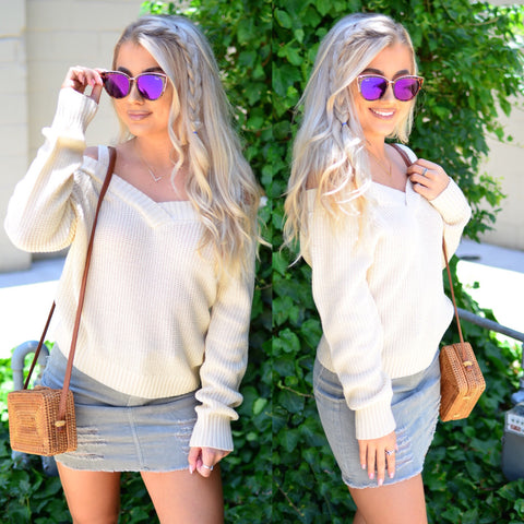 Secret Lover Sweater-Grey