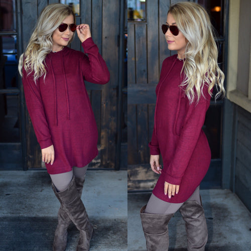 Campfire Nights Tunic-Wine