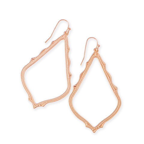 Maggie Small Hoop Earrings in Rose Gold