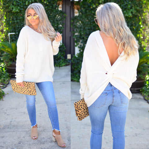 Lace Me Up Sweater