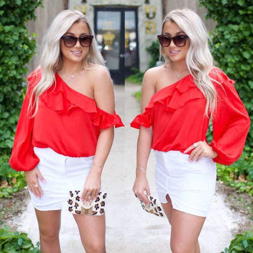 Dream All Day Top-Red