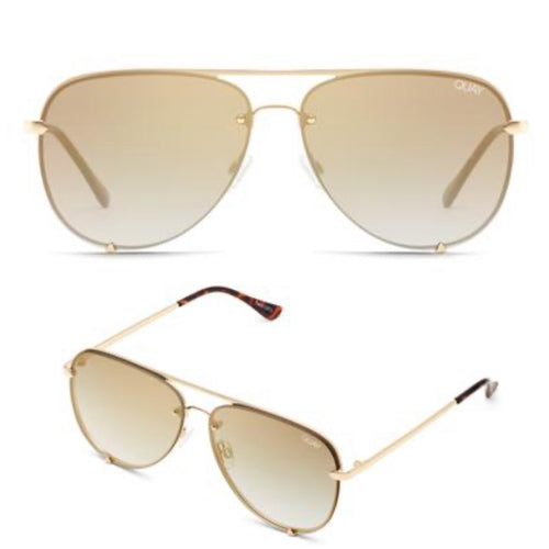 High Key Rimless-GLD/Brown