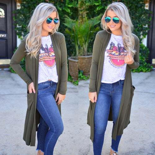 My Way Duster-Olive