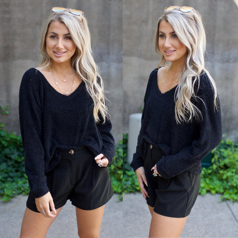 Fireside Love Sweater-Black