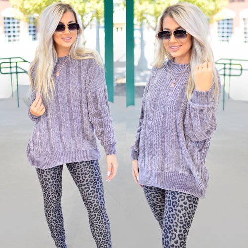 Meant To Be Sweater-Grey