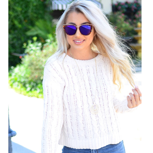 Just One Look Sweater- Ivory
