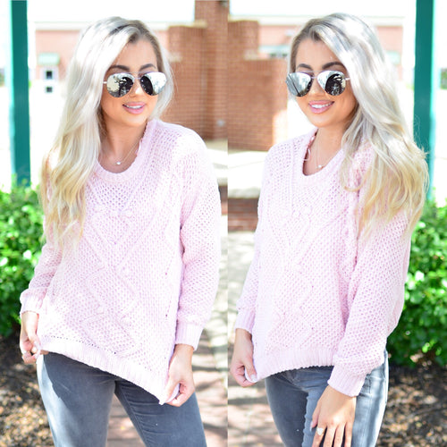 Feel the Vibe Sweater- Blush