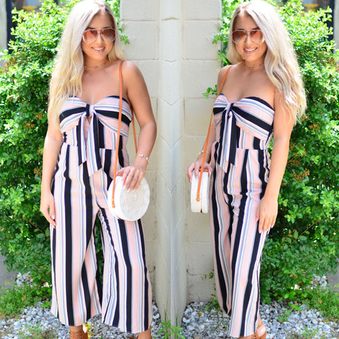 Earn Your Stripes Romper