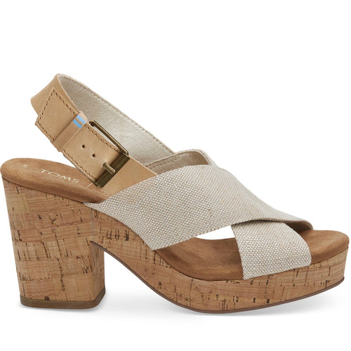 Pearlized Metallic Woven Women's Ibiza Sandals