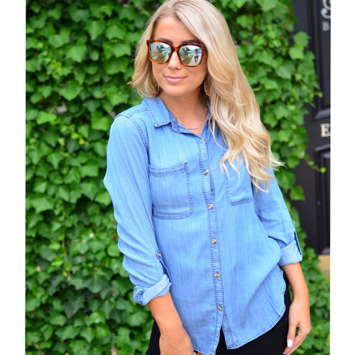 Chambray Love Top