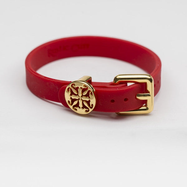 Amanda Buckle-Red with Gold
