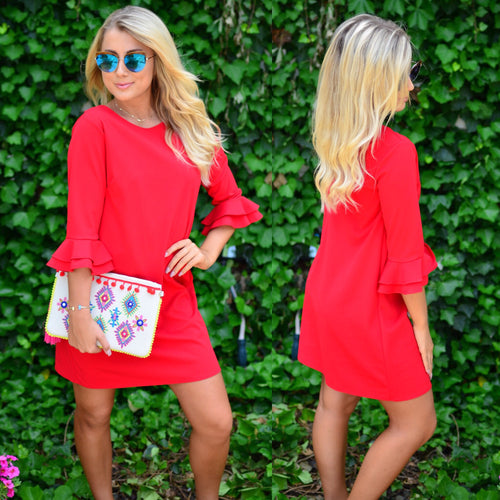 Steal You Away Dress-Red