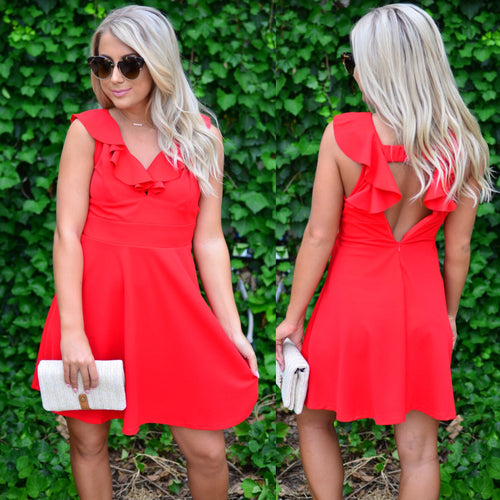 Daring Dreamer Dress-Red