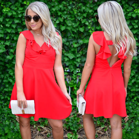 It's All About Love Dress-Red