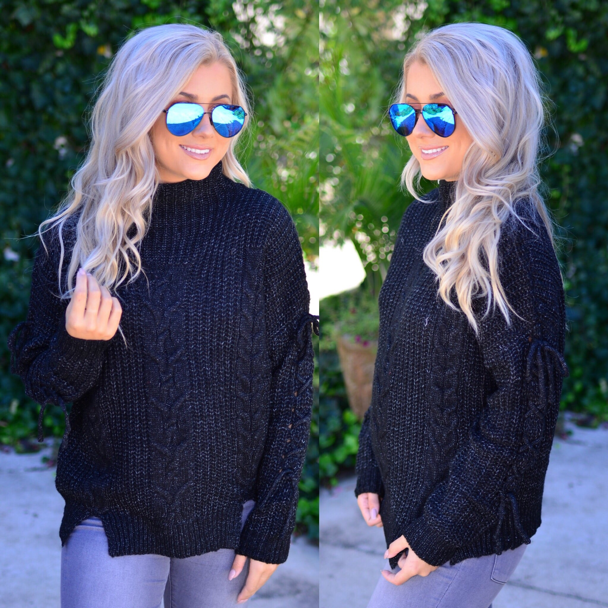 Love Life Sweater-Black