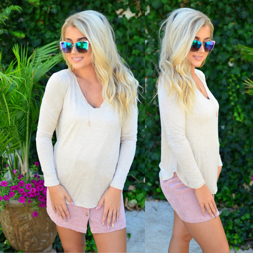 Casual Day Top-Oatmeal