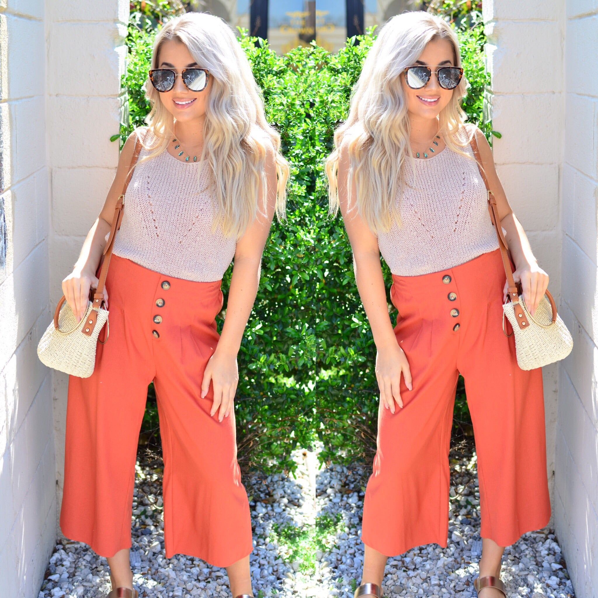 Southern Sunset Pants-Rust