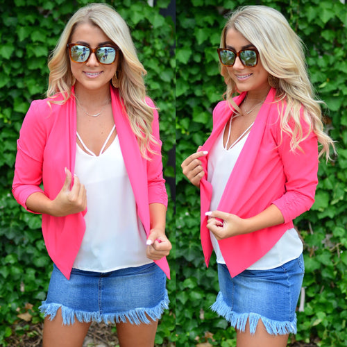 Sophisticated Beauty Blazer-Coral