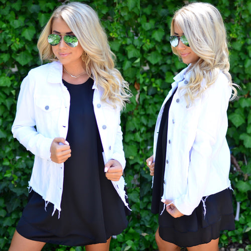 Just A Little Edge Jacket-White