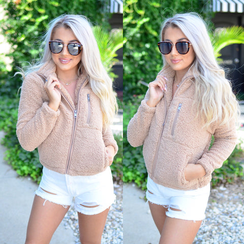 Secret Love Jacket- Camel