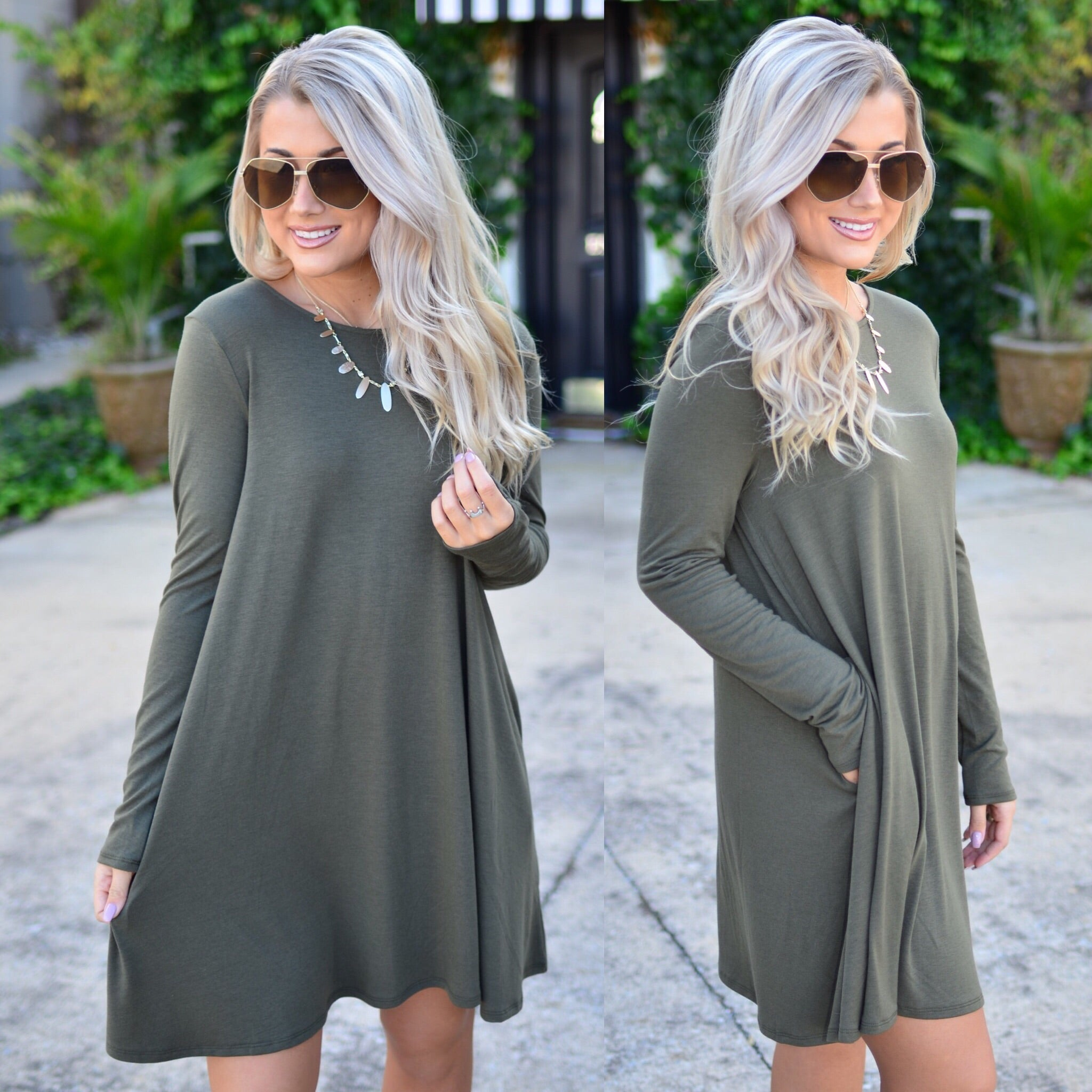 Simply Irresistible Dress-Olive