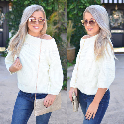 Hello Beautiful Sweater -Ivory