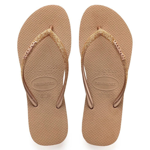 Havaianas-Rose Gold Glitter
