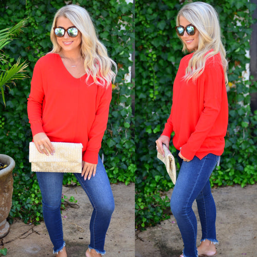 Perfect Sweater- Red