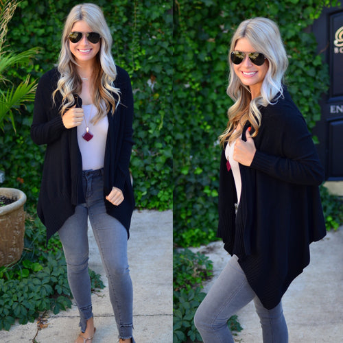 Wrapped In Love Cardigan-Black