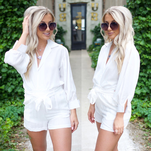 Sophisticated Life Top-White