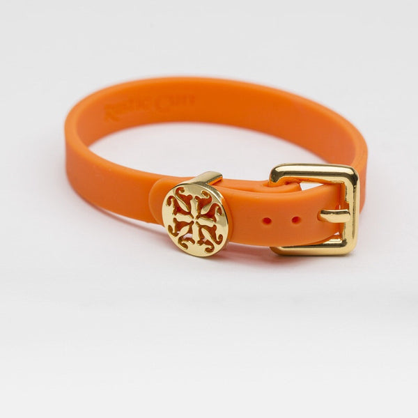 Amanda Buckle Orange with Gold