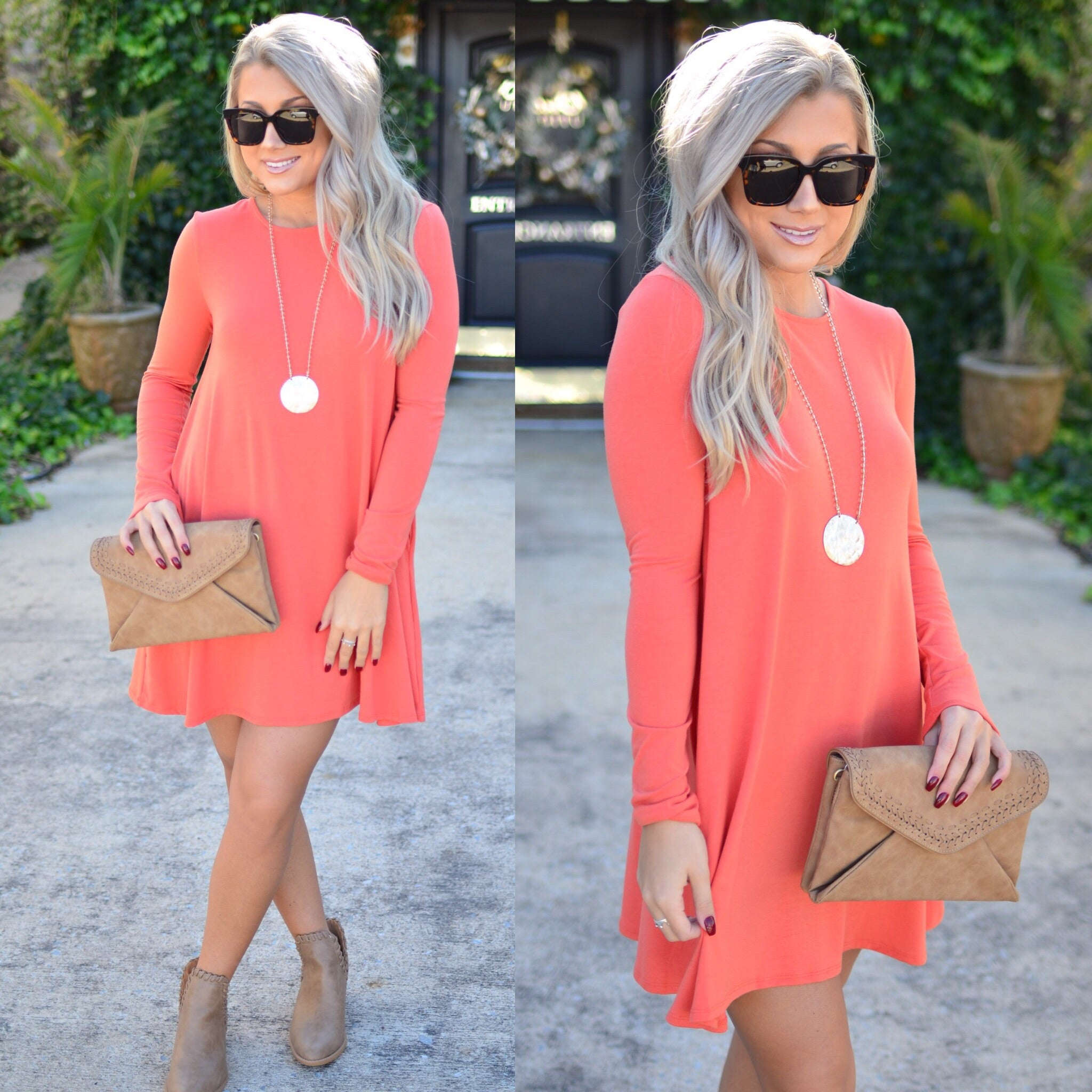 Simply Irresistible Dress-Apricot