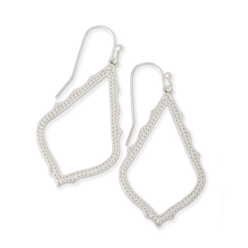Sophia Drop Earrings in Rhodium