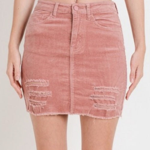 Perfect Love Skirt-Blush