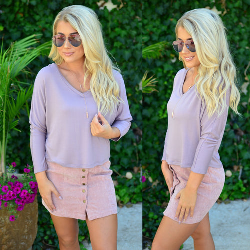 Constant Love Top-Lilac