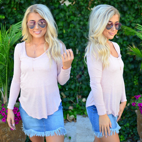 Casual Day Top-Blush