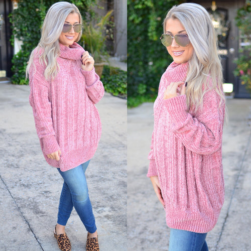 Day Romance Sweater-Blush