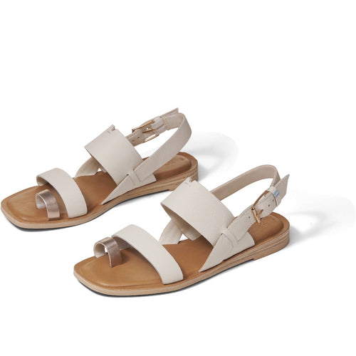 Off White Rose Gold Leather Women's Freya Sandals