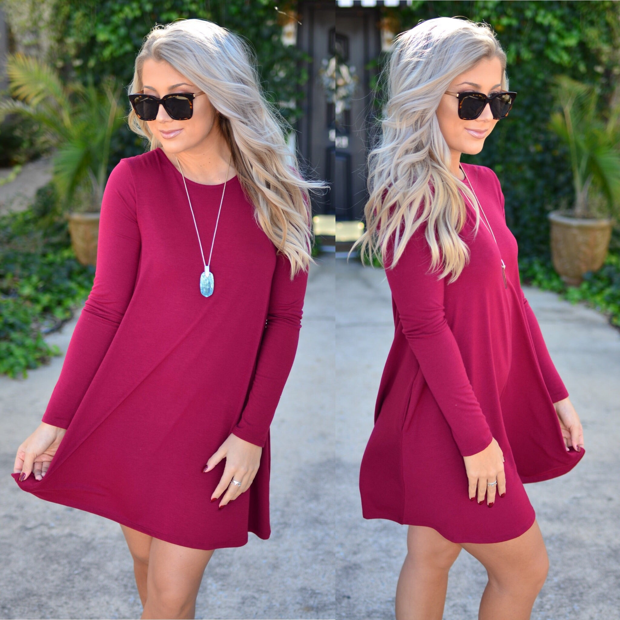 Simply Irresistible Dress-Wine