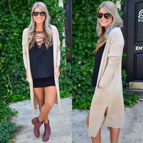 Perfect Style Duster-Oatmeal