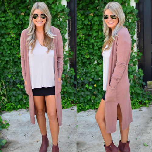 Perfect Style Duster-Marsala
