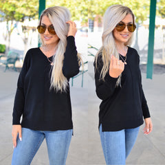 Secret Crush Sweater- Black