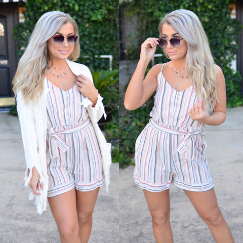 Committed To You Romper