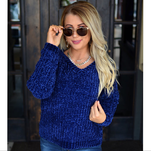 Awestruck Ultra Soft Sweater-Navy
