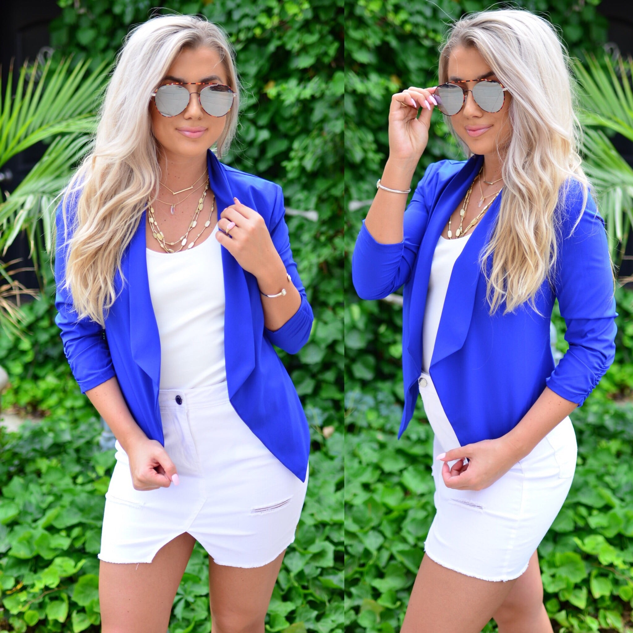 Sophisticated Beauty Blazer-Cobalt