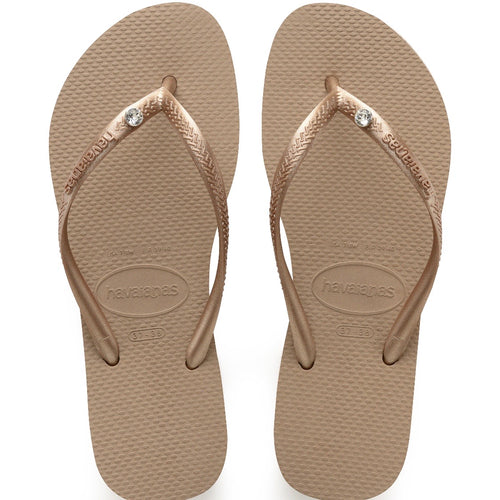 Havaianas-Rose Gold Crystal Glamour