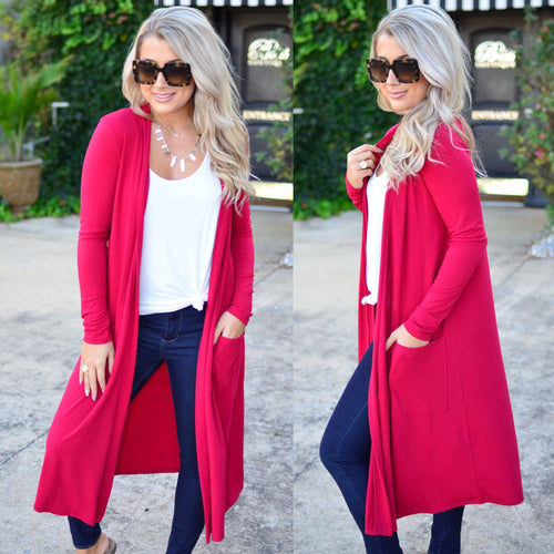 My Way Duster-Red