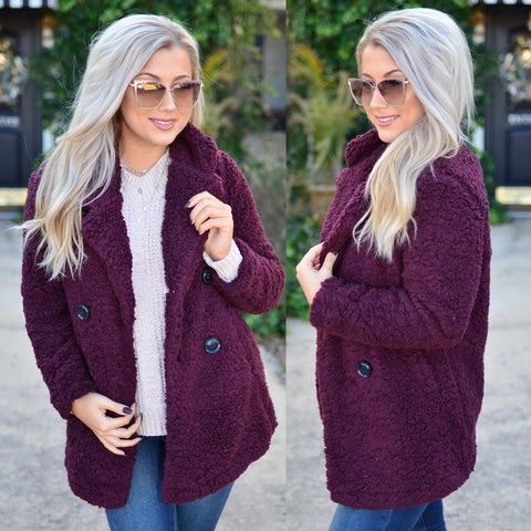 Crossing My Heart Sweater- Wine