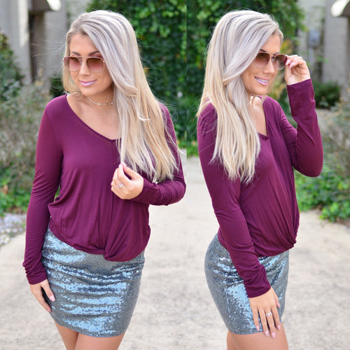 Perfectly Basic Top- Wine