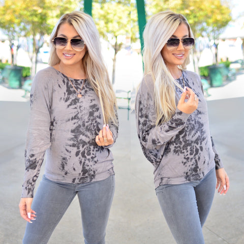 New Love Top-Charcoal